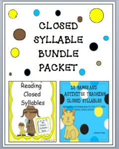 Closed Syllable Bundle Cover