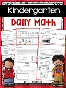 Kindergarten Daily Math Part 1