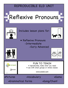 Reflexive Pronoun cover