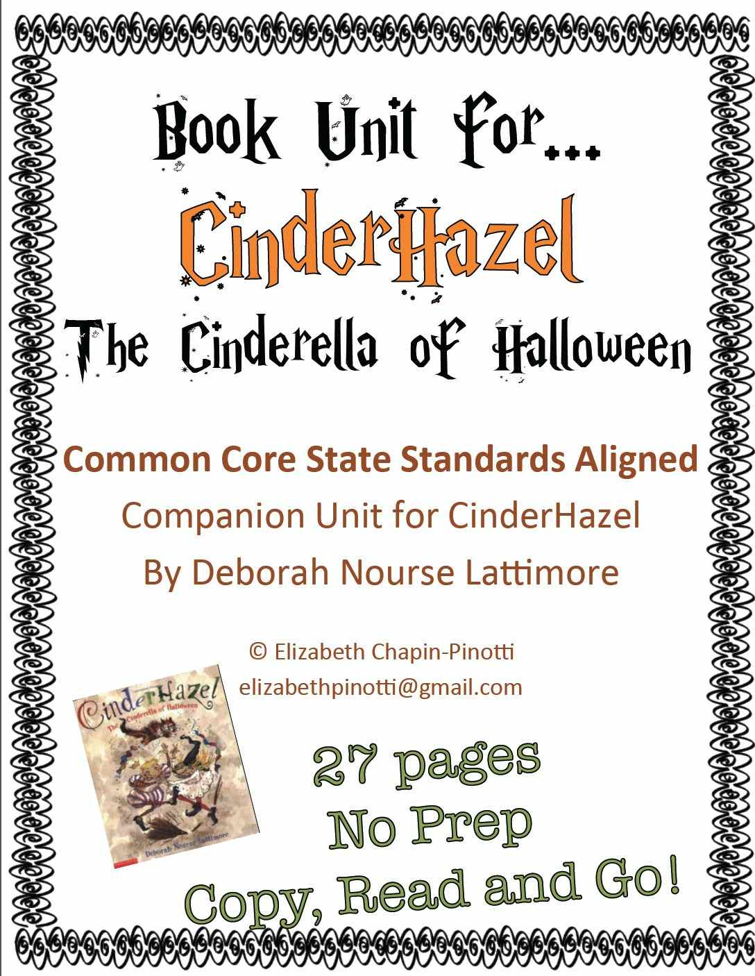 Language Arts: CinderHazel No Prep Unit: Common Core Aligned – The ...