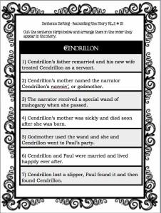 Chapin-Pinotti: Cendrillon Sentence Strips