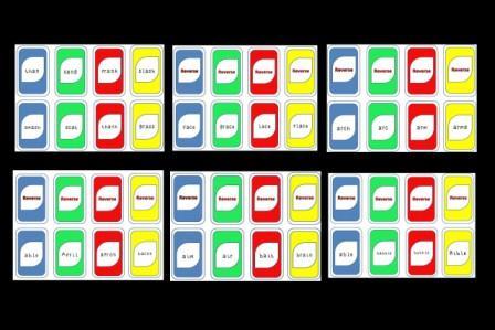 "LANGUAGE ARTS – ""Playing Uno with Syllable Type Reading Bundle ..."