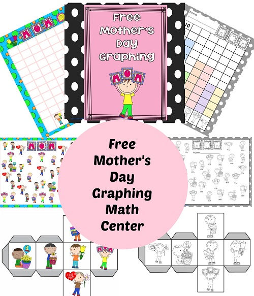 Free Mother's Day Count and Graph, Roll and Graph