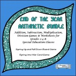 End of the Year addit,subt,mult,div board game for grades 2-4  8x8 Cover