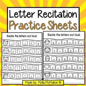 Alphabet recognition practice