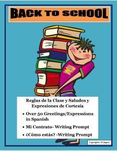 BacktoSchoolBundleGreetingsClassRulesinSpanishIceBreakerPrompt-page-001