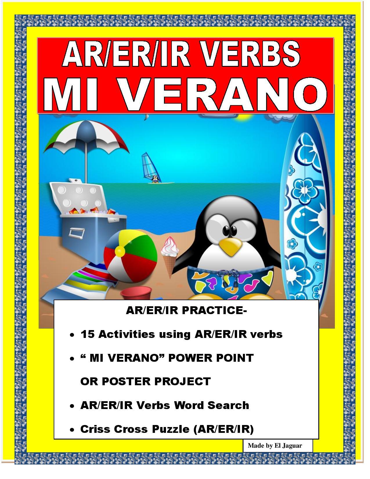 SPANISHENDOFYEARMIVERANOVerbsPowerPointPosterProjectwithRubric (1)-page-001 (1)