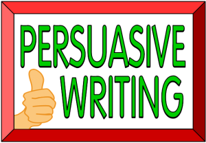 Image result for persuasive writing title