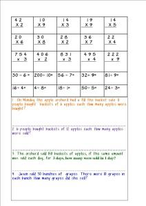 Math Warm Ups 1