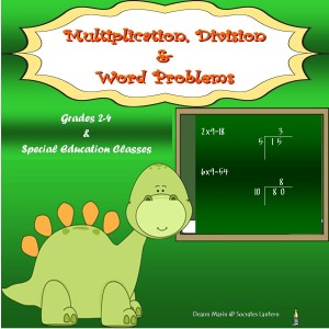 Multiplication & Division Word Problems  8x8 Cover