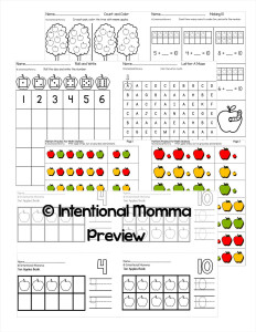 worksheets and centers