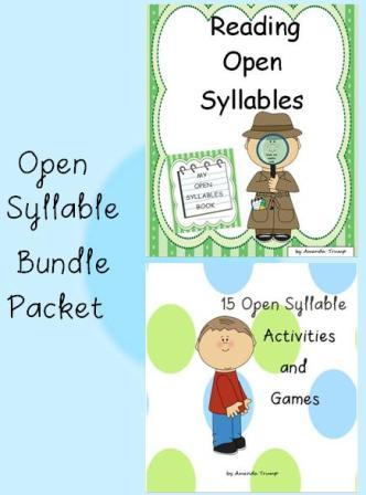 Open syllable worksheets 2nd grade