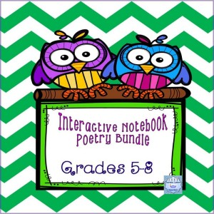 Interactrive Poetry Notebook 8 by 8 Cover