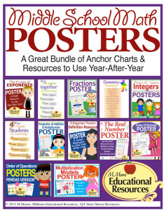 Middle School Math Posters