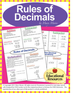 Rules of Decimals