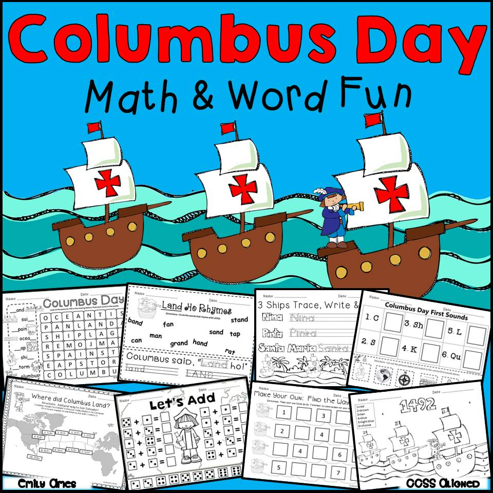 Columbus Day Math and Word Fun – The Best of Teacher Entrepreneurs ...