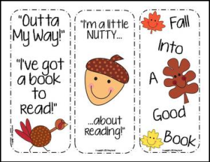 thanksgiving bookmark