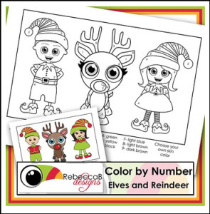 color x number reindeer
