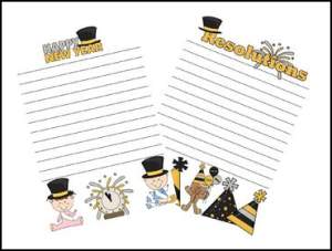 new year stationery