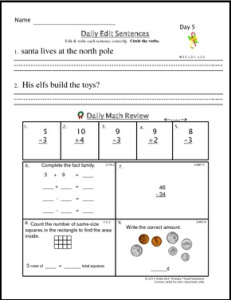 xmas common core grade 2