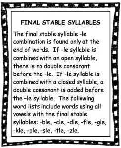 Final Stable Definition