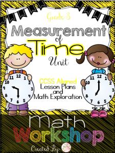 Time Math Workshop Lesson Plans