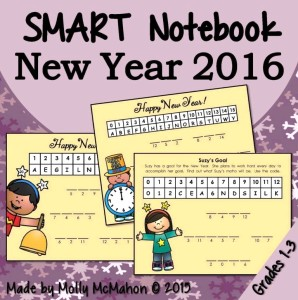 new years smart board
