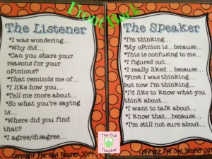 Speaking and Listening Cards