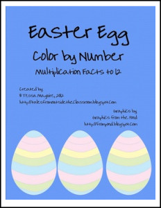 easter egg color x number