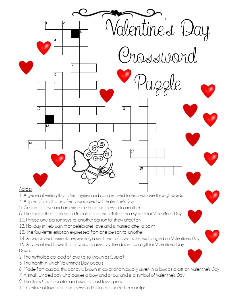 "A ""LOVE"" for Words! Valentine\'s Day Crossword Puzzle – The Best of ..."