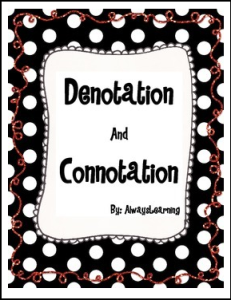 Free Language Arts Lesson Denotation And Connotation Activity