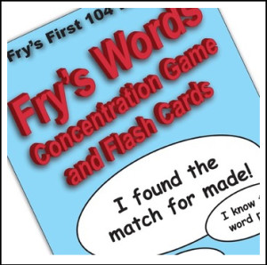 frys words concentration game