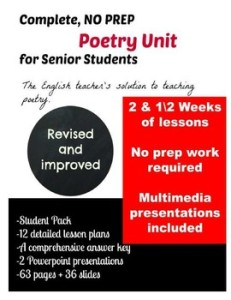 poetry unit senior