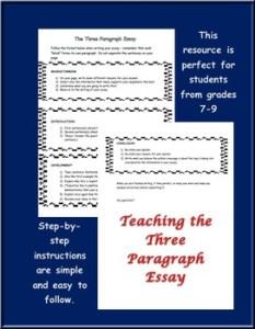 three para essay