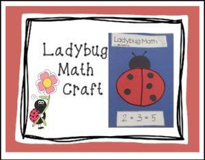 Ladybug Math Craft