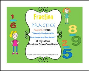 Fraction and Decimals Practice