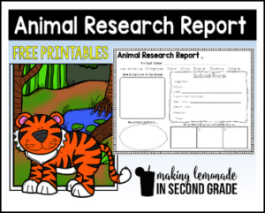 Animal Research Report Printables