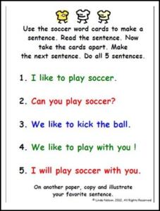 Soccer Sentences