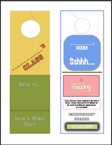 Classroom Idea or Reward- Door Hangers