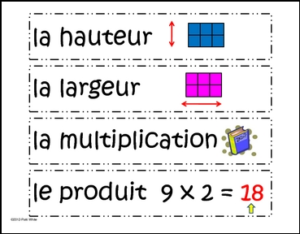 French Version of Math Vocabulary