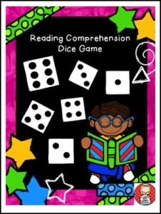 Reading comprehension strategies dice game