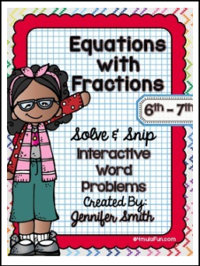 Equations with Fractions Solve and Snip