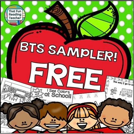 Free Back to School Sampler by That Fun Reading Teacher