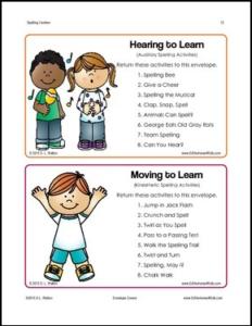 Spelling Centers Free Peek