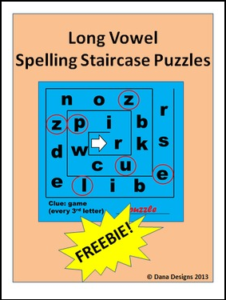 Spelling Staircase Puzzle