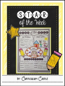 Star of the Week Student Poster