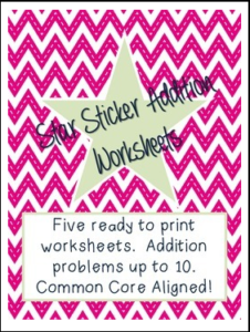 Sticker Addition Worksheet