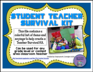 Student Teacher Survival Kit