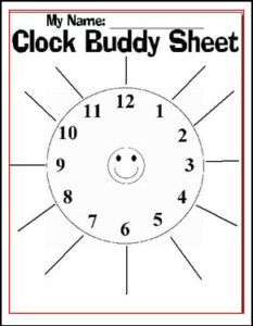 Clock Buddy Sheet