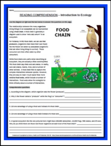 intro-to-ecology-reading-comprehension-worksheet